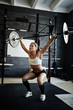 Lifting barbell