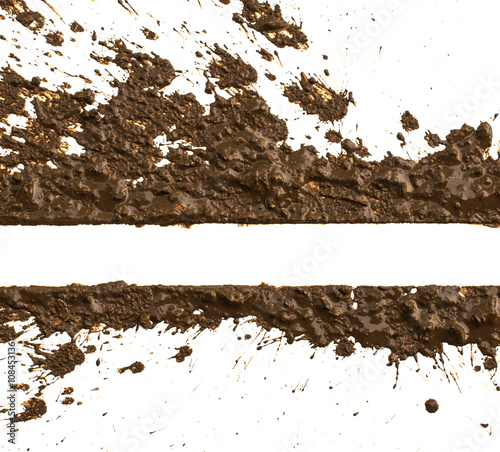 Texture clay moving in white background Wall mural