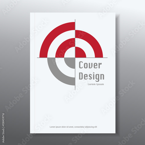 Photo  vector  target achievement flyer cover design