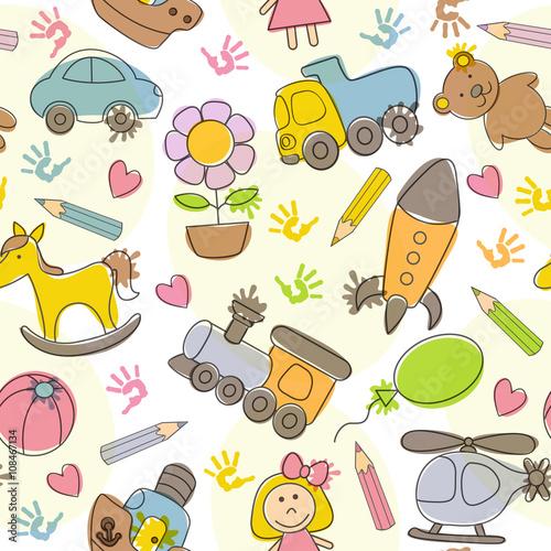 wzor-z-rysunkow-dzieci-ilustracji-wektorowych-eps