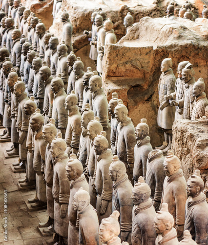 Side view of the Terracotta Warriors, Xi'an, China