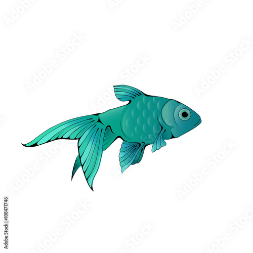 Hand Drawn Ink Stylized Little Aquarium Fish Buy This Stock Vector