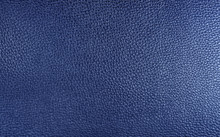 Blue Leatherette Texture As Background.