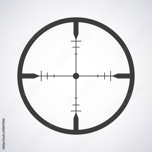 Fotomural  Target icon isolated on a gray background, stylish vector illustration for web d