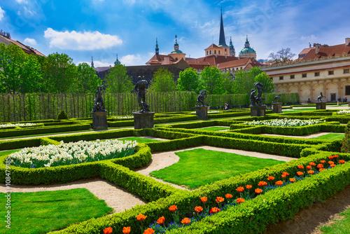 Valdstejnska Garden and Prague Castle in Prague, Czech Republic Poster