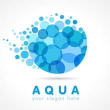 Aqua Water Drop Logo. Mineral ...