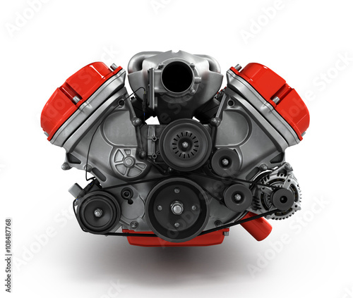 engine gearbox isolated on a white background 3d render Wall mural