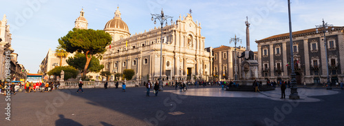 Foto op Canvas Monument View of Catania cathedral in Sicily