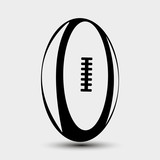 Vector illustration of rugby ball