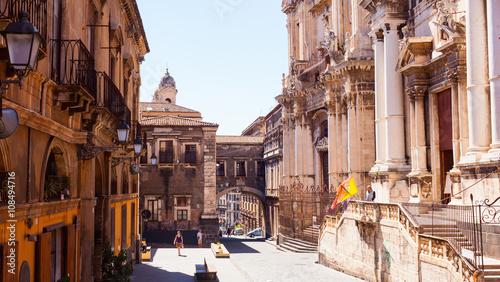 Fotografia Via dei Crociferi, Catania