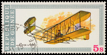 First Airplane Of Wright Brothers (1903) On Postage Stamp
