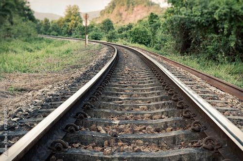Voies ferrées vintage railroad tracks