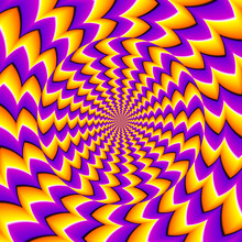 Orange Spin Illusion