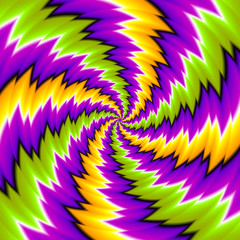 Colorful  background with spirals (spin illusion)