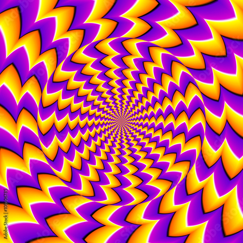 Cuadros en Lienzo Orange spin illusion