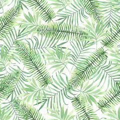 fototapeta tropikalne liście akwarele