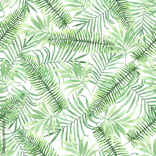 Fotografía Tropical seamless pattern with leaves