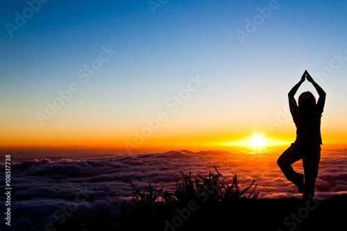 Poster Ecole de Yoga sunset yoga