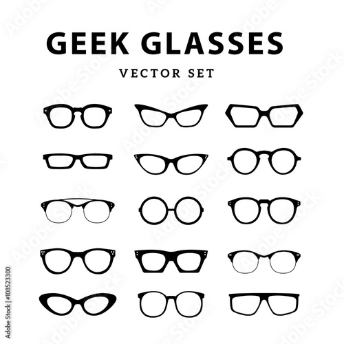Set of glasses. Vector illustration on white background. Glasses ...