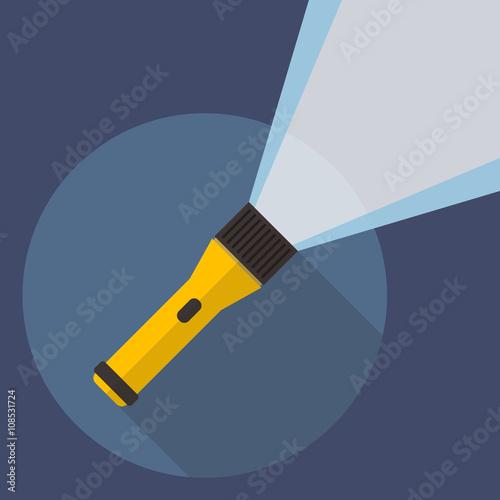 Obraz Flashlight flat icon - fototapety do salonu