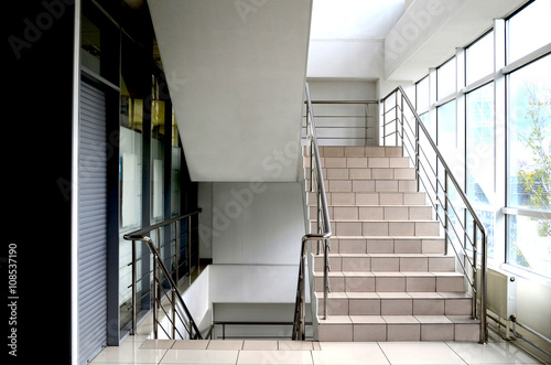staircase with iron railing at the Mall Fototapeta