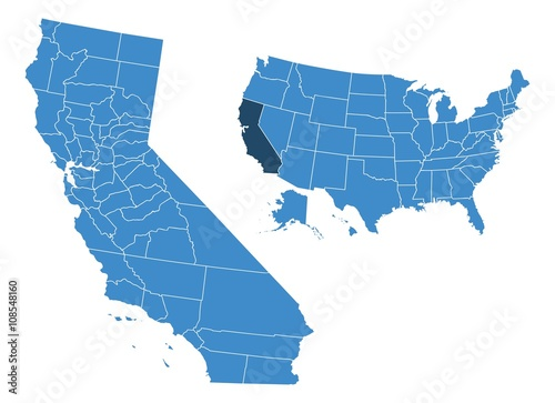 California State Map on
