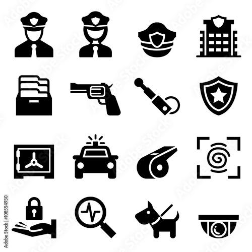 Police & Security guard icon Fototapeta