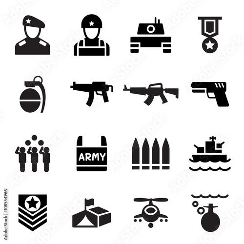 Military icon Fototapete