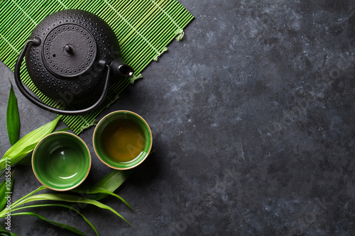 Green japanese tea Lerretsbilde