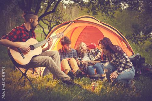 Tuinposter Muziekwinkel Amici in tenda