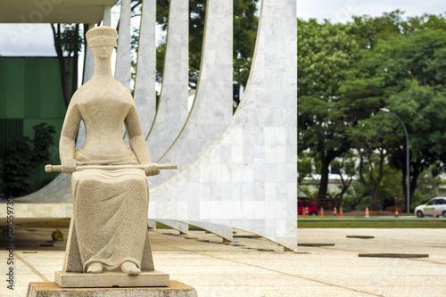 Federal Supreme Court building in Brasilia, capital of Brazil.