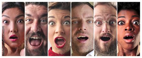 Foto Surprised people