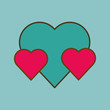 love and heart design , valentines related icon