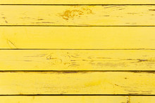 Yellow Wooden Background Made ...