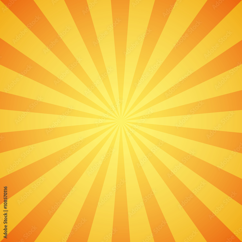 Fototapety, obrazy: Yellow grunge sunbeam background. Sun rays abstract wallpaper.