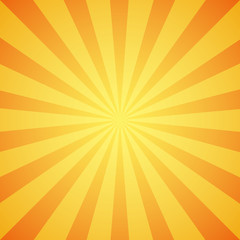 Yellow grunge sunbeam background. Sun rays abstract wallpaper.