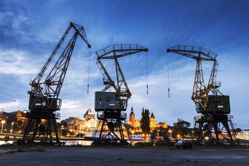 Old cranes in Szczecin
