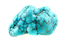Turquoise Mineral Isolated