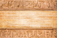 Old Egypt Hieroglyphs Carved On The Stone