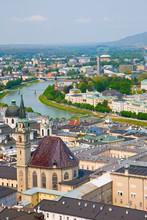 View To Salzburg City, Austria, Mozart Birthplace