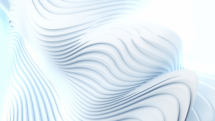 Naklejka Abstract 3d wavy band background surface