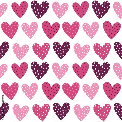 sliczne-rozowe-serca-z-kropek-jednolite-wzor
