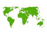 世界 地図 緑 アイコン - 108591179