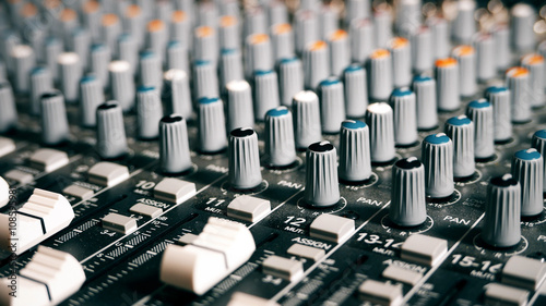 Obraz na plátně  Mixing Board Sound Knobs
