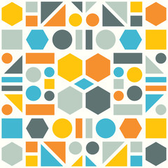 Obraz na Szkle Skandynawski Colorful pattern of geometric shapes. Vector abstract background.