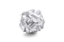 Close-up Of Crumpled Paper Ball With Shadow..