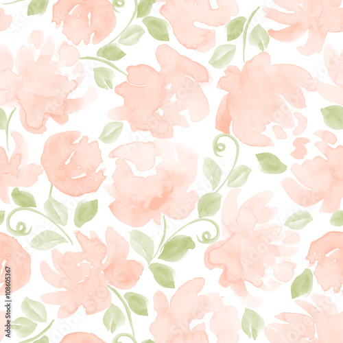 colorful watercolor flowers seamless pattern. vector illustration for your design