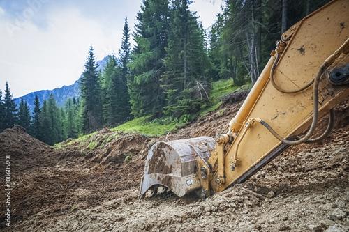 Fotografie, Obraz  excavator in the nature