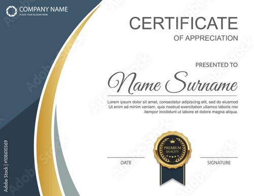 Photo  Vector certificate template.