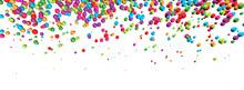 3D-Banner: Farbenfroher Perlen...